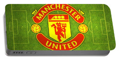 Manchester United Theater Of Dreams Large Canvas Art, Canvas Print, Large Art, Large Wall Decor Portable Battery Charger by David Millenheft