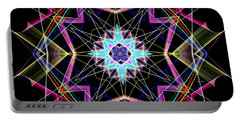 Portable Battery Charger featuring the digital art Mandala 3304a  by Rafael Salazar