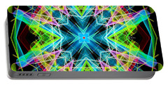 Portable Battery Charger featuring the digital art Mandala 3308a  by Rafael Salazar
