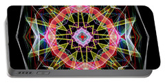 Portable Battery Charger featuring the digital art Mandala 3313 by Rafael Salazar