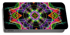 Portable Battery Charger featuring the digital art Mandala 3324a by Rafael Salazar
