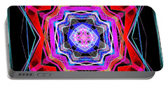 Portable Battery Charger featuring the digital art Mandala 3325 by Rafael Salazar