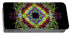 Portable Battery Charger featuring the digital art Mandala 3333 by Rafael Salazar