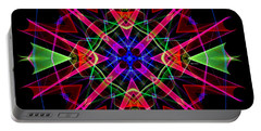Portable Battery Charger featuring the digital art Mandala 3351 by Rafael Salazar