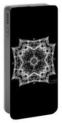 Portable Battery Charger featuring the digital art Mandala 3354b In Black And White by Rafael Salazar