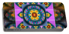 Mandala Heart Montage 4 Portable Battery Charger by Wbk