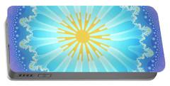 Portable Battery Charger featuring the digital art Mandala by Jutta Maria Pusl
