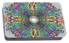 Portable Battery Charger featuring the digital art Mandala by Kevin Middleton