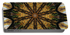 Mandala Of Autumn Trees. Portable Battery Charger