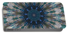 Mandala Of Blue Glass Portable Battery Charger