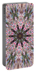 Mandala Of Cherry Blossom Portable Battery Charger
