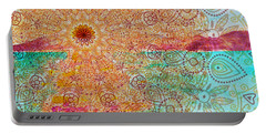 Mandala Sets Over The Dunes Portable Battery Charger