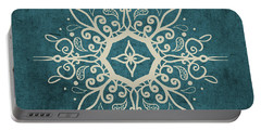 Mandala Teal And Tan Portable Battery Charger
