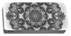 Portable Battery Charger featuring the digital art Mandala To Color 2 by Mo T