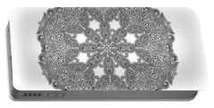 Portable Battery Charger featuring the digital art Mandala To Color by Mo T