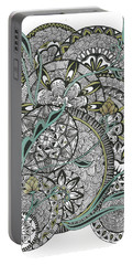 Mandalas With Gold Flowers Portable Battery Charger