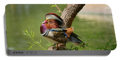 Mandarin Duck On Tree Portable Battery Charger