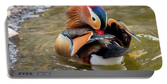 Mandarin Duck Preening Feathers Portable Battery Charger