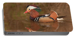 Mandarin Duck Reflection Portable Battery Charger by Alan Lenk