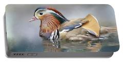 Mandarin Duck Swimming Portable Battery Charger
