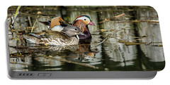 Mandarin Ducks The Couple Portable Battery Charger by Torbjorn Swenelius