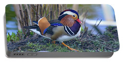 Mandarin On The Move Portable Battery Charger by Lynn Hopwood