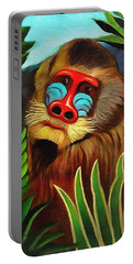 Mandrill In The Jungle Portable Battery Charger