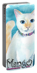 Mango - Flame Point Siamese Cat Painting Portable Battery Charger