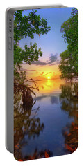 Mangrove Sunset From Jensen Beach Florida Portable Battery Charger by Justin Kelefas