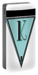 Pennant Deco Blues Banner Initial Letter K Portable Battery Charger