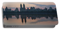 Manhattan At Night  Portable Battery Charger by Yvonne Wright