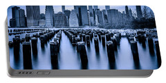 Portable Battery Charger featuring the photograph Manhattan Blues by Chris Lord