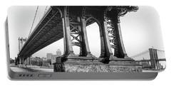Manhattan Bridge, Afternoon Portable Battery Charger