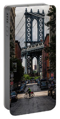 Manhattan Bridge  Portable Battery Charger by Anthony Fields