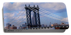 Manhattan Bridge Framing The Empire State Building Portable Battery Charger