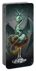 Portable Battery Charger featuring the digital art Manhattan Dragon by Stanley Morrison
