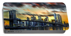 Portable Battery Charger featuring the photograph Manhattan Passion by Az Jackson