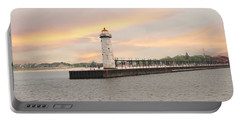 Manistee North Pierhead Lighthouse Portable Battery Charger