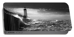 Portable Battery Charger featuring the photograph Manistee Pierhead Lighthouse by Fran Riley