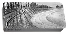 Manly Beach In Black And White Portable Battery Charger