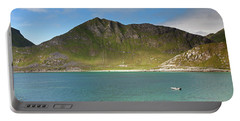Mannen From Vik Beach Portable Battery Charger