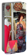 Mannequin With Stripped Flower Dress Portable Battery Charger