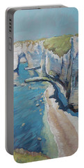 Manneport, The Cliffs At Etretat Portable Battery Charger