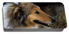 Portable Battery Charger featuring the photograph Man's Best Friend by Bob Christopher