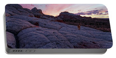 Portable Battery Charger featuring the photograph Man's Best Friend Sunset by Jonathan Davison