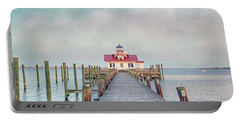 Manteo Lighthouse Portable Battery Charger by Marion Johnson
