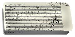 Manuscript Score For A Waltz By Franz Schubert Portable Battery Charger
