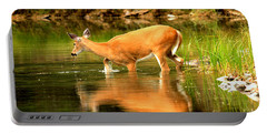 Wading For Dinner Portable Battery Charger by Adam Jewell