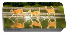 Many Glacier Deer 2 Portable Battery Charger by Adam Jewell