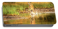 Junior Dashing Through The Water Portable Battery Charger by Adam Jewell